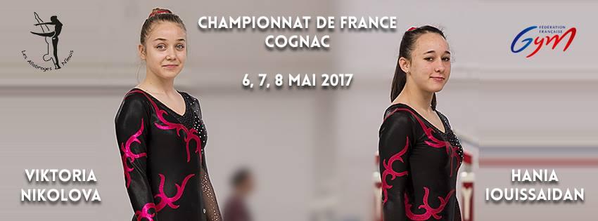 Viktoria et Hania ont eu de bons résultats lors du championnat de France FFG 2017 à Cognac