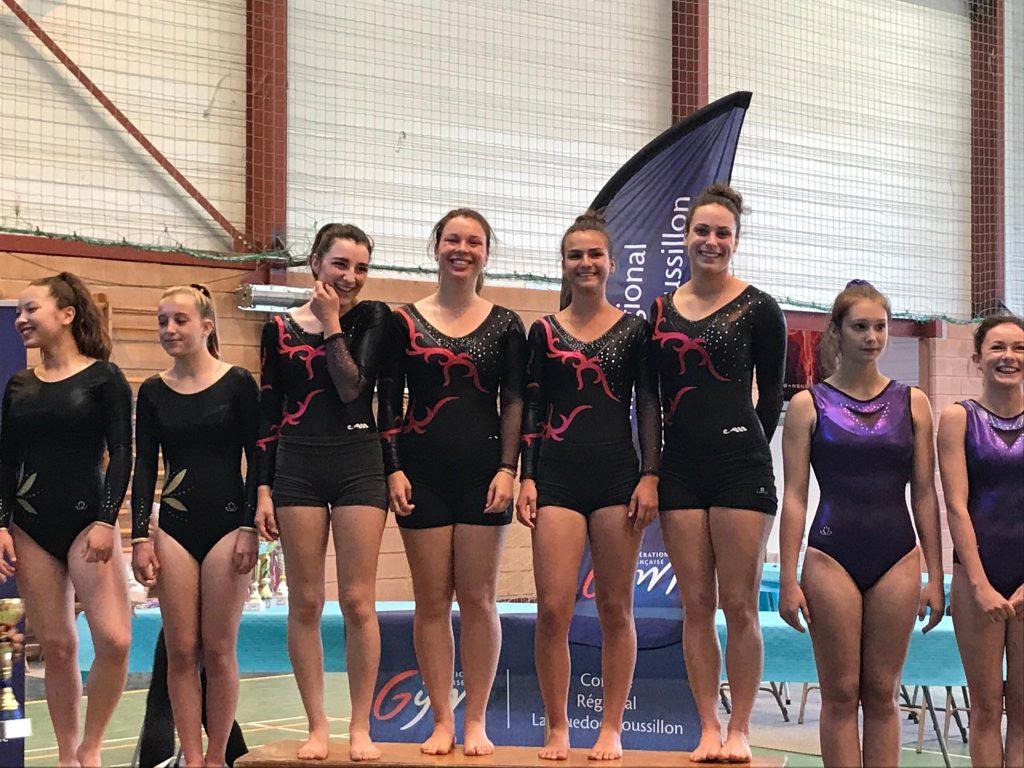 Podium lors de la finale régionale par équipe à Castelnaudary